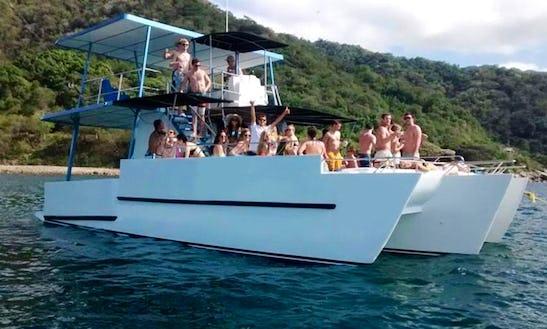 Charter 35' Jeanneau Power Catamaran In Puerto Vallarta, Mexico