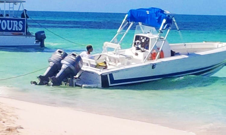 "Rent 26ft ""White Sand"" Center Console In Cockburn, Turks and Caicos Islands"