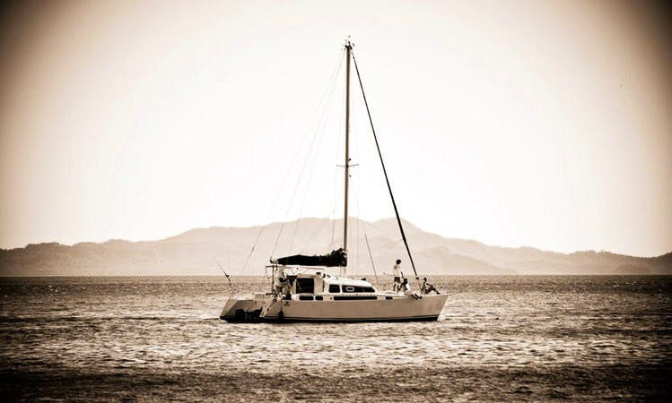 "Private Tour on 37ft ""Mantaray"" Sailing Catamaran in Flamingo, Costa Rica"