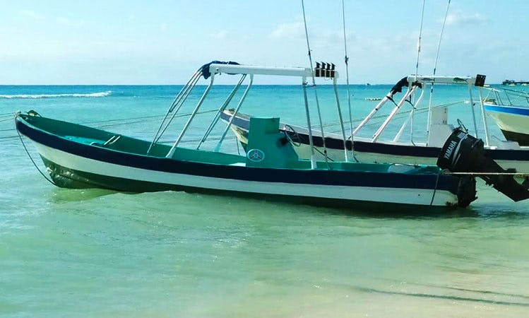 Explore Playa del Carmen, Mexico on this 24' Center Console Boat