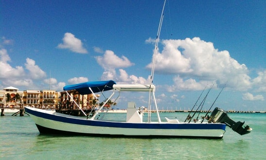 4 To 6 Hours Center Console Rental In Playa Del Carmen, Mexico