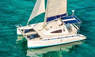 40ft Cruising Catamaran Charter in Cancún, Quintana Roo