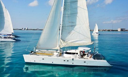 68' Catamaran Charter In Cancún, Quintana Roo