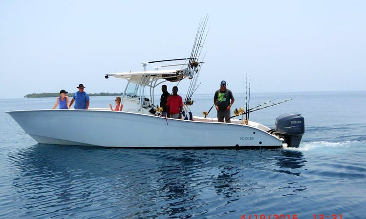 Unforgettable fishing trip in Placencia, Belize on 32' Cape Horn Yacht