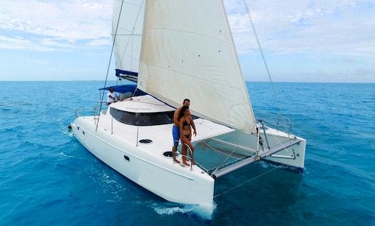 Malube 40ft Cruising Catamaran Rental In Cancún