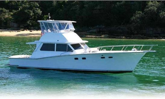 Charter 46' Cresta Motor Yacht In Drummoyne, Australia
