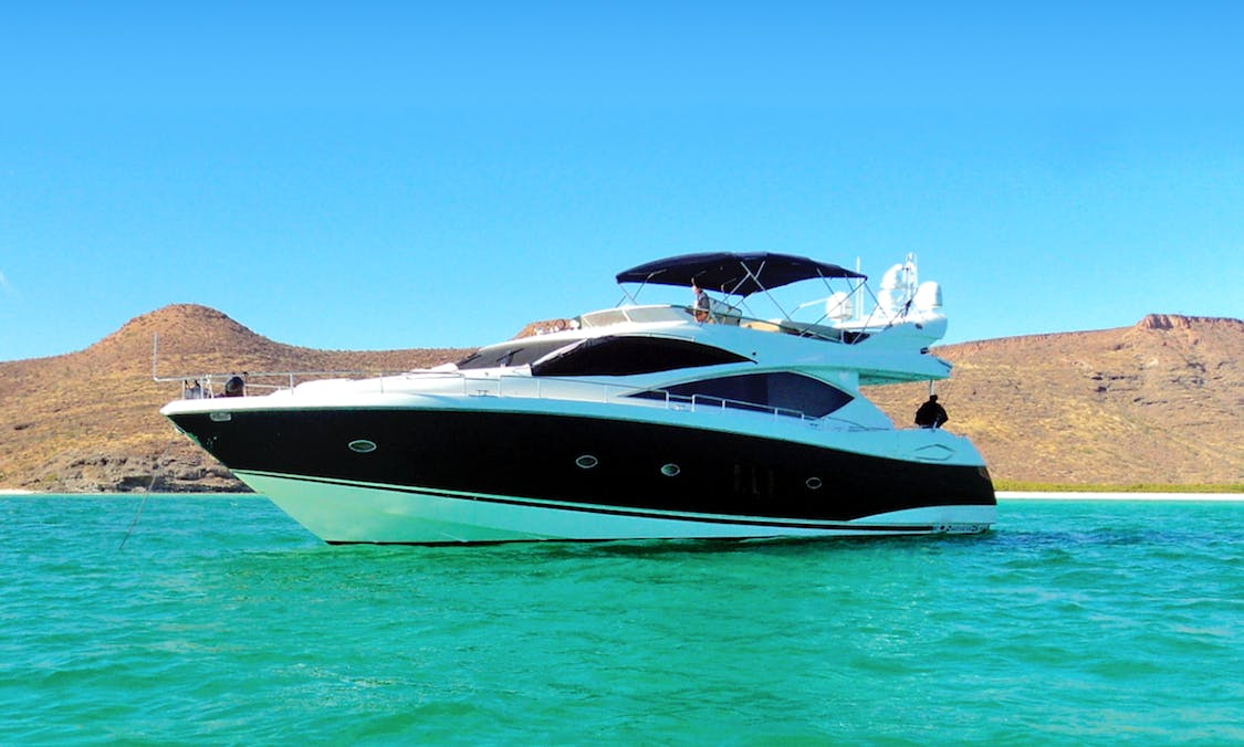 SUNSEEKER 75' - LA PAZ MEXICO - LUXURY YACHT FOR CRUISING THE SEA OF CORTEZ