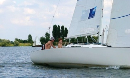 Enjoy Sailing On Belgian Limburg On J-22 Sailboat