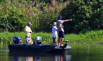 Enjoy Fishing in Colombo, Sri Lanka on Jon Boat
