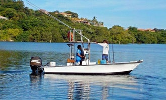 22' Panga Center Console Rental for Fishing in Playa Flamingo, Costa Rica