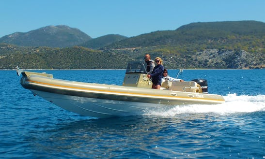 25' Rib Rental In Lefkada, Greece For 8 People
