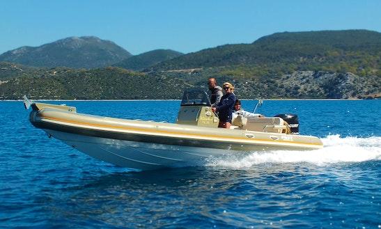 25' Rib Rental In Lefkada, Greece For 8 People