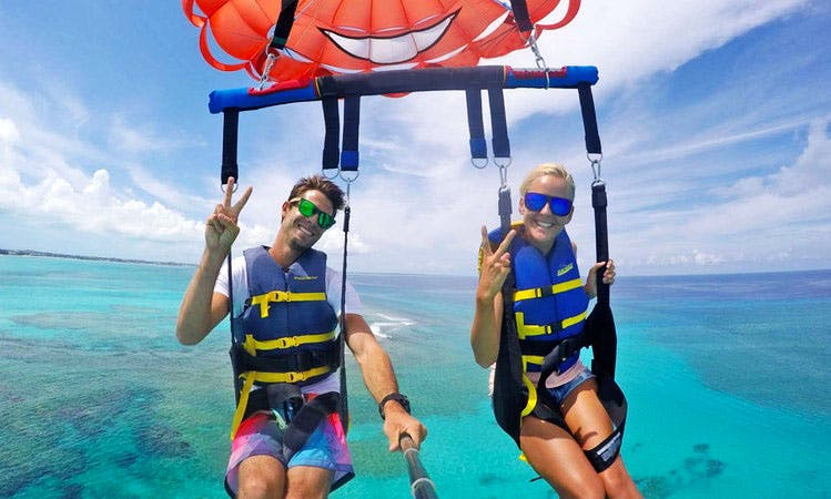 Parasailing Flight in Grace Bay, Turks and Caicos Islands