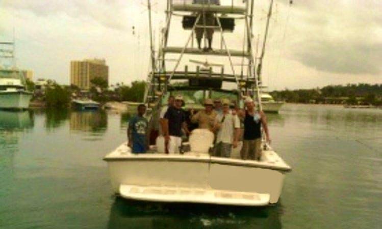 "33' Sport Fisherman ""Whaler One"" Fishing Charter in Ocho Rios, Jamaica"