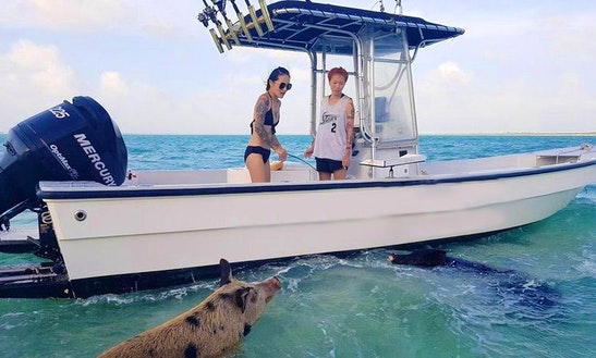 Enjoy Fishing In Spanish Wells, The Bahamas On 26' Center Console
