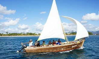 Charter a Tradional Dhow Sailboat in Pointe aux Biches, Mauritius