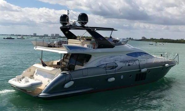 Charter 70' Azimut Power Mega Yacht in Miami Florida