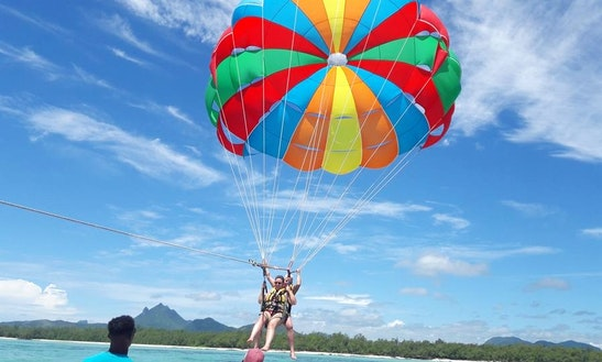 Enjoy Parasailing In Grand River South East, Mauritius
