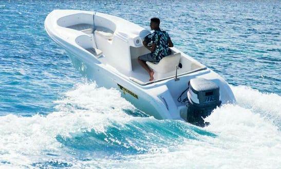 Charter A 10 Person Bowrider In Quatre Cocos, Mauritius