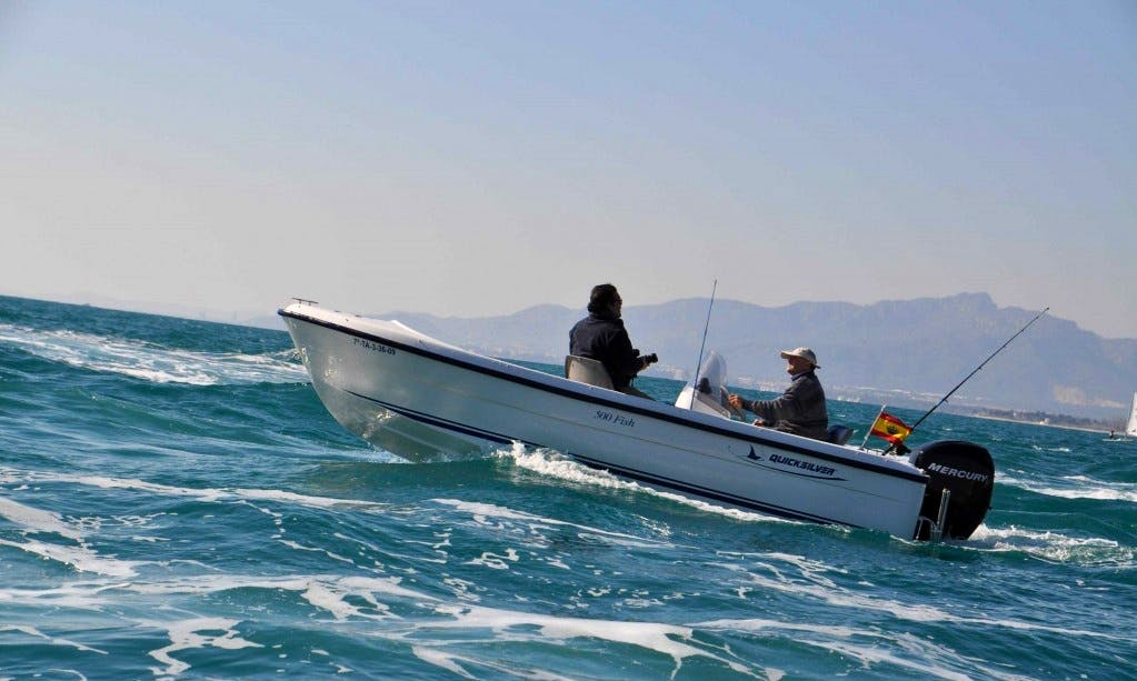 Enjoy Fishing in Cambrils, Spain on Llobarrete VII Jon Boat