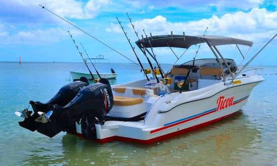 Enjoy Fishing In Flic En Flac, Mauritius On Cuddy Cabin!