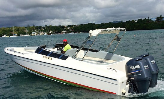 Enjoy Fishing In Trou D'eau Douce, Mauritius On 26' Bowrider