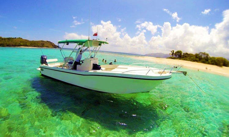 "Private Day Trips on 26' ""Irie"" Dusky Technicraft Boat in Tortola, British Virgin Islands"