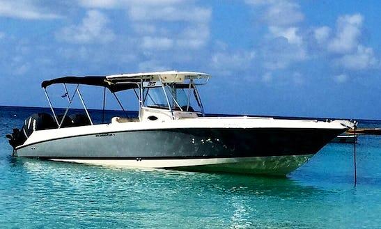Scarab 35 Boat Charter In Sint Maarten