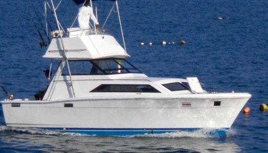 28' Inboard Propulsion Charter In Quepos, Costa Rica