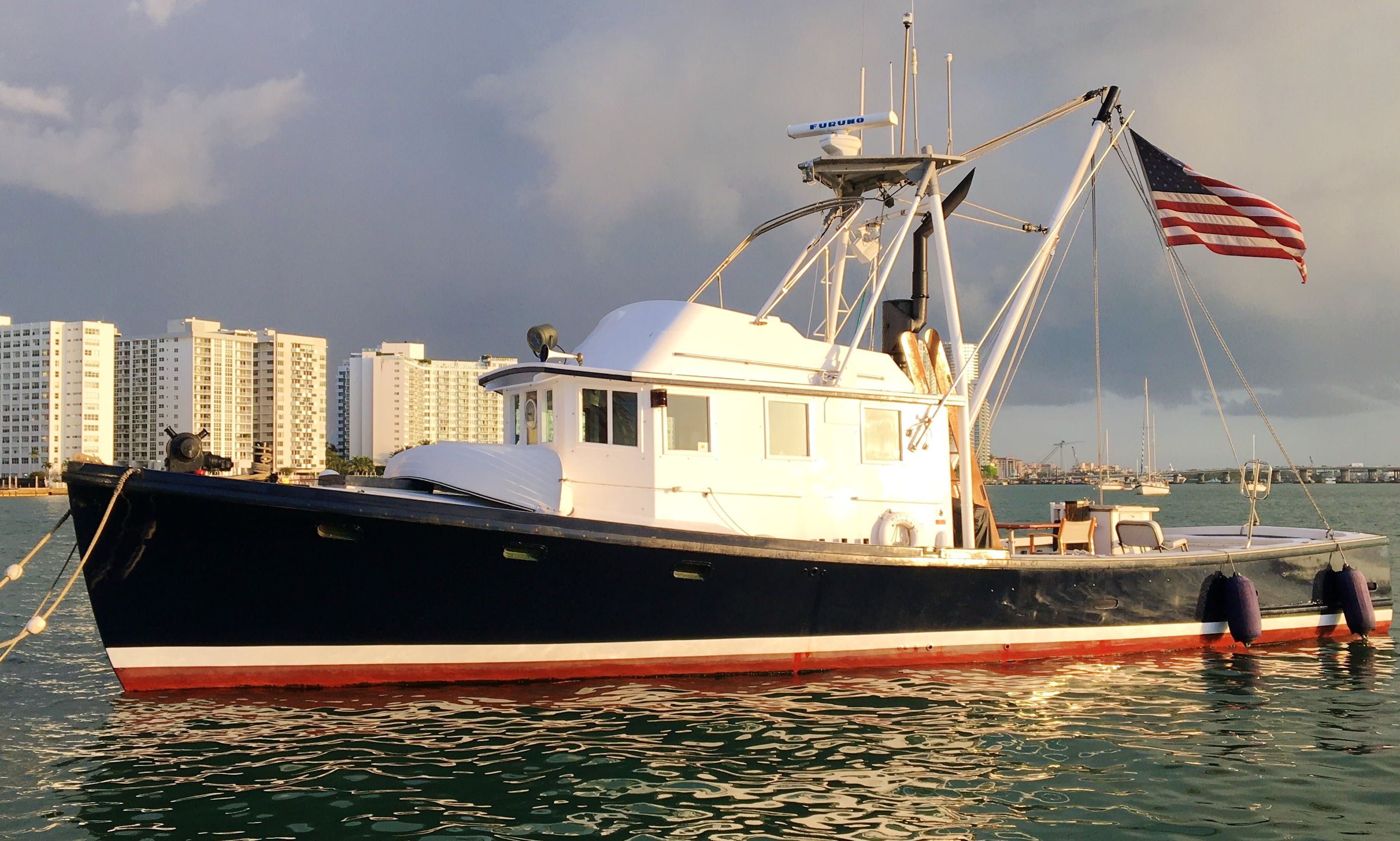 "Charter 46ft ""Blue Fin"" Jarvis Newman Trawler In Miami Beach, Florida (With Captain Only)"