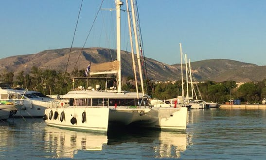 Charter 62' Lagoon Cruising Catamaran In Lavrion, Greece