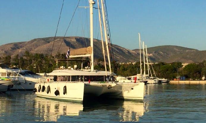 Charter 62' Lagoon Cruising Catamaran in Lavrion, Greece