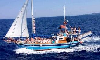 Charter this Gorgeous Sailing Gulet in Parga, Greece