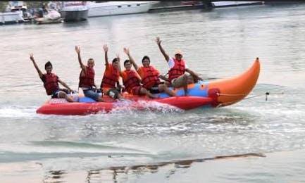 Enjoy Tubing in Sei Beduk, Indonesia