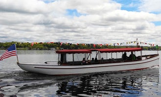 """2 hours Cruise on 50ft """"General Schuyler"""" Fantail Launch Classic Yacht In Saratoga Springs, New York"""