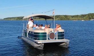 """2 hours Cruise on 22ft """"Kaydeross"""" Pontoon Boat In Saratoga Springs, New York"""