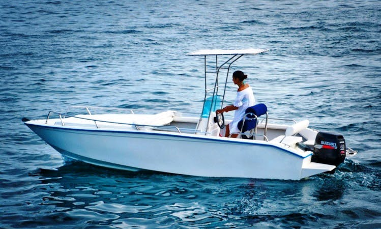 Barracuda Motorboat Rental in Ponza