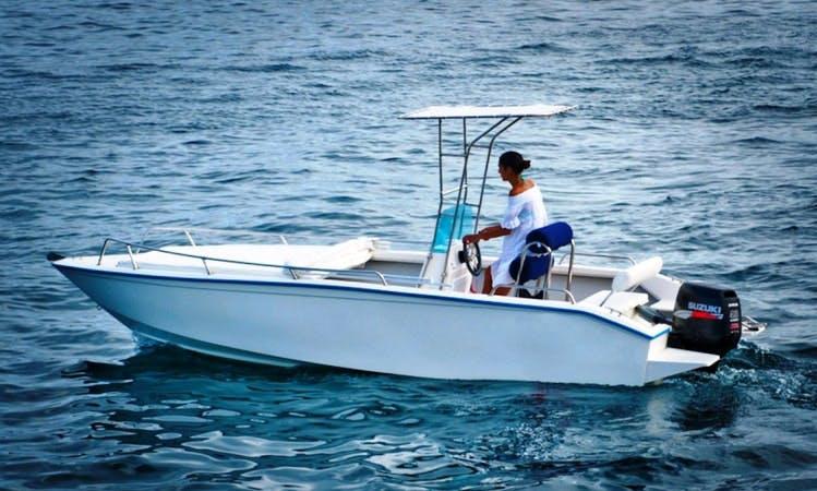 Barracuda Motorboat Rental in Ponza