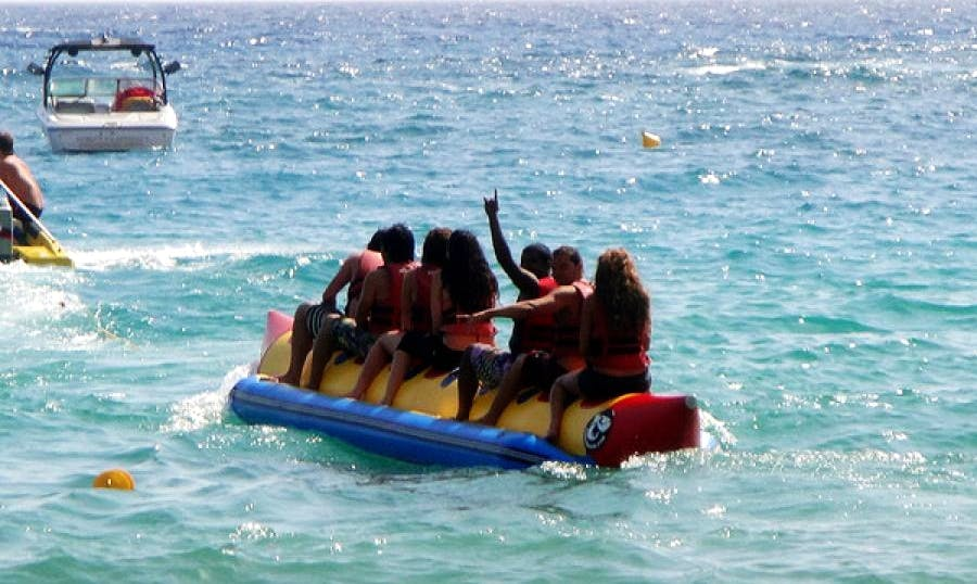 Enjoy Tubing in Betalbatim  Gonsua beach, Goa