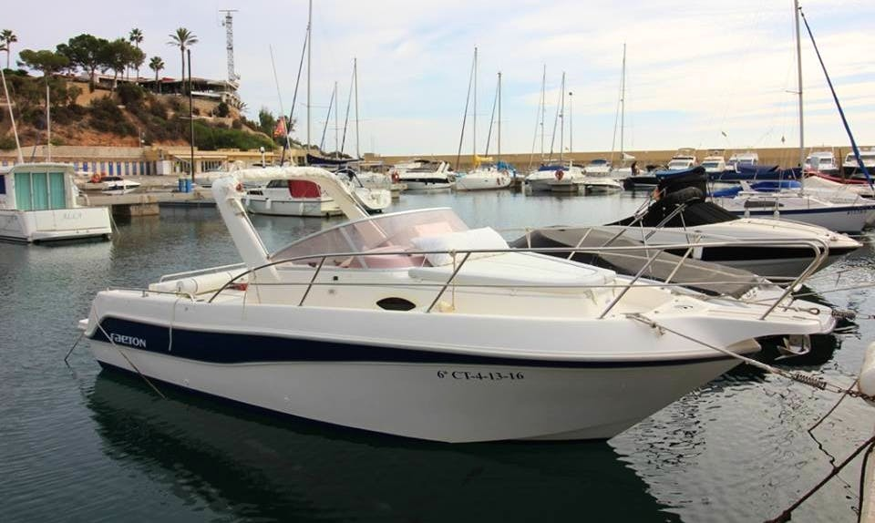 BOAT CHARTER IN ORIHUELA COSTA. CABO ROIG. ALICANTE. SPAIN