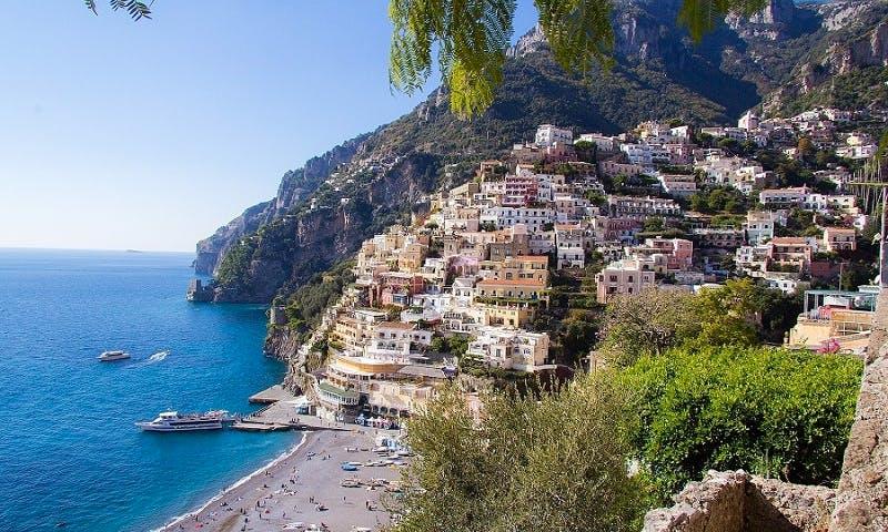 Cruising in Positano along the unique Amalfi Coast
