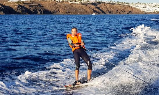 Enjoy Wakeboarding In Puerto Calero, Spain