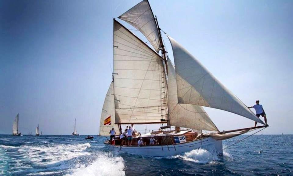 "Captained Charter on Classic Boat ""Bon Temps"" Schooner in Barcelona, Spain"