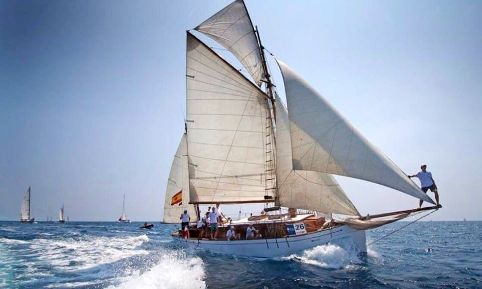 "Captained Charter on Classic Boat ""Bon Temps"" Schooner in Barcelona, Spain"