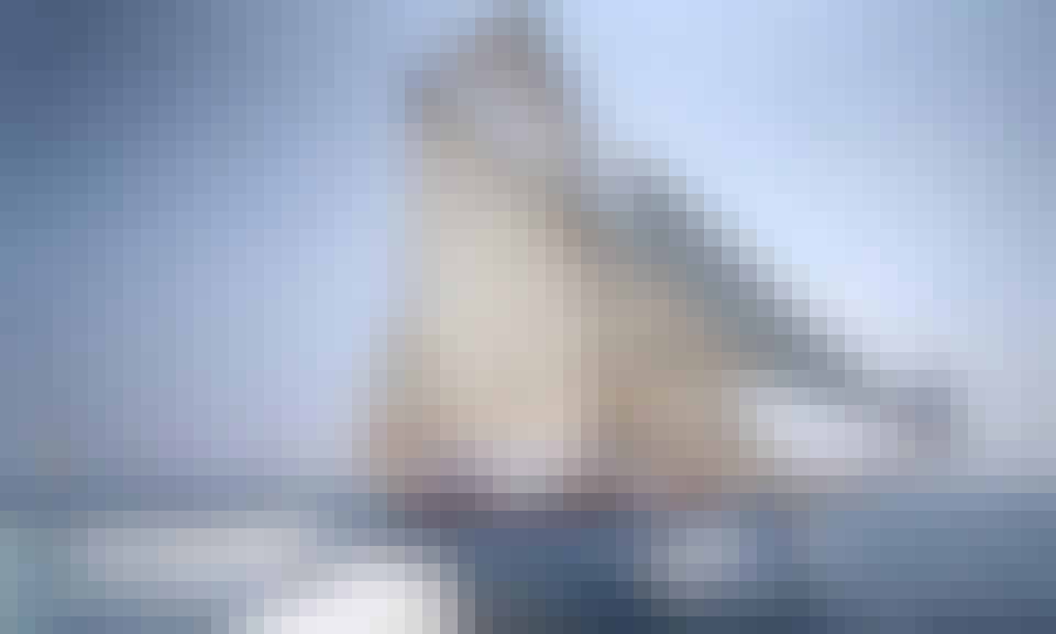 """""""Bon Temps 1926"""" Oldest Spain Yacht, unique experience Tour Barcelona landscape, Spain"""