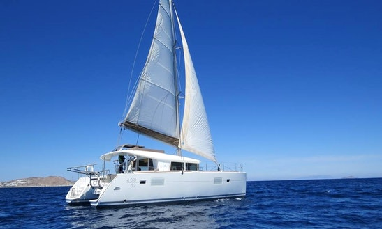 Charter 40' Lagoon Cruising Catamaran In Mikonos, Greece