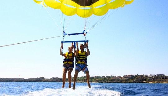 Enjoy Parasailing In Vasilikos, Greece