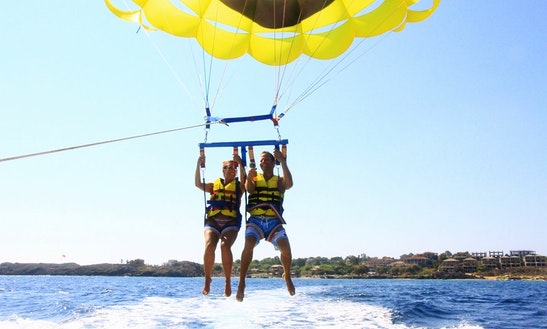 Enjoy Parasailing In Vasilikos, Greece