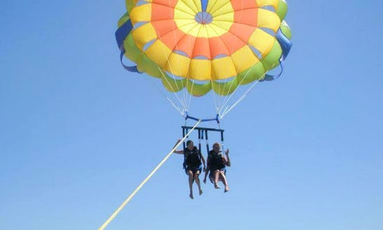 Enjoy Parasailing In Karfas, Greece