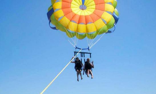 Enjoy Parasailing In Karfas, Greece
